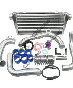 Cxracing Tube & Fin FMIC Intercooler Piping Kit + BOV For 89-99 240SX S14 S15 SR20DET