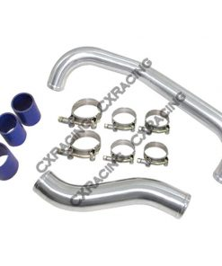 "Cxracing Turbo Intercooler Hot Pipe + 2.5"" Air Intake Pipe For 89-94 Nissan 240SX S13 SR20DET"
