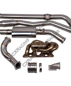 Cxracing Thick Wall Turbo Manifold Downpipe Catback Turboback For Datsun 510 S13 SR20
