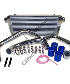 "Cxracing 31""x11""x3"" Front Mount Intercooler Kit For R32 R33 R34 GTR CTS With RB20 RB25"