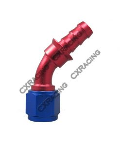 Cxracing 8 AN AN8 45 Degree Racing Aluminum Hose End Fitting Push On Lock Oil Adapter