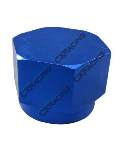 Cxracing Anodized Aluminum Flare Oil Fitting AN 8 Cap Block Off AN8 8AN Blue
