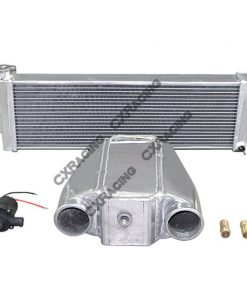 Cxracing Aluminum Heat Exchanger Liquid Water to Air Intercooler and Water Pump