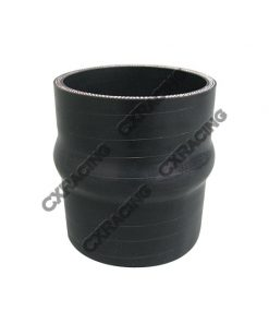 """Cxracing 2.5"""" Black Hump Silicon Hose Coupler For Intercooler Pipe"""