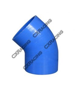 """Cxracing 2.5"""" Silicone Hose 45 Degree Elbow Coupler 65mm Turbo Silicon Blue"""
