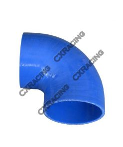 """Cxracing 2.5"""" Silicone Hose 90 Degree Elbow Coupler 65mm Turbo Silicon Blue"""