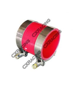 """Cxracing 2.5"""" RED SILICONE HOSE + T-CLAMP 2 INTERCOOLER/PIPING"""
