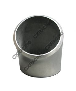"""Cxracing 1.9"""" O.D. Extruded 304 Stainless Steel Elbow 45 Degree Pipe , 3mm (11 Gauge) Thick"""