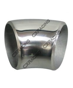 """Cxracing 2"""" O.D. Extruded 304 Stainless Steel Elbow 45 Degree Pipe , 3mm (11 Gauge) Thick"""
