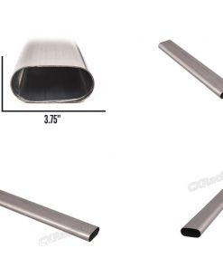 """Cxracing 3"""" Oval Straight 304 Stainless Steel Pipe + Round Coverter"""