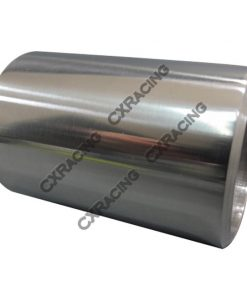 """Cxracing 2.25"""" O.D. Extruded 304 Stainless Steel Straight Pipe, 3"""" Long, Polished Finishing"""