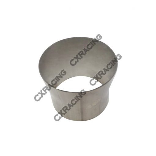 """Cxracing 4"""" to 3.5"""" 304 Stainless Steel Reducer Jointer Pipe Exhaust Catback"""