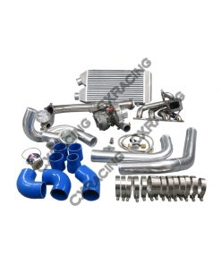 Cxracing Turbo Kit Downpipe Intercooler Manifold For 1997-2001 Nissan FRONTIER KA24DE T3