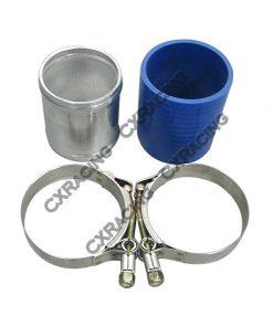 "Cxracing 2.5"" Aluminum joiner Pipe 3"" Long + T-Clamps + Hose"