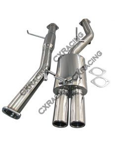 Cxracing DUAL Tip Cat-back Exhaust System For 89-94 240SX S13 SILVIA