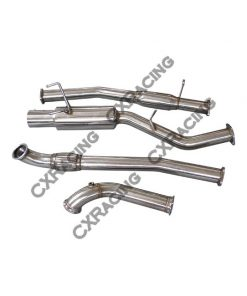 "Cxracing 3"" Single Turbo Downpipe CatBack Exhaust For 240SX S13 S14 1JZ-GTE VVTI"