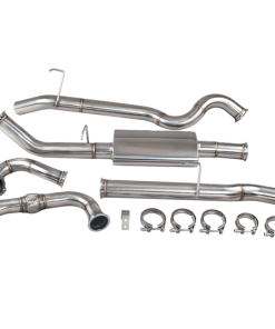 """Cxracing Turbo Back Downpipe Exhaust For 83-90 Land Rover Defender 110 3"""" SS"""