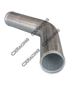 "Cxracing 1.5"" 45 Degree Aluminum Pipe, Mandrel Bent Polished, 1.65mm Thick Tube, 15"" Length"