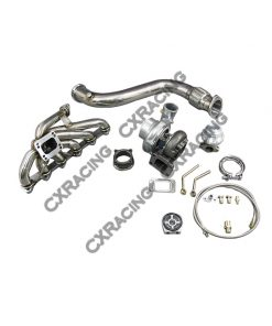 Cxracing GT35 Turbo Downpipe Catback kit For 84-91 BMW 3-Series E30 325 Bolt on
