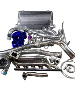 Cxracing GT35 Turbo Manifold Downpipe Intercooler Kit for BMW E46 M52 Engine NA-T