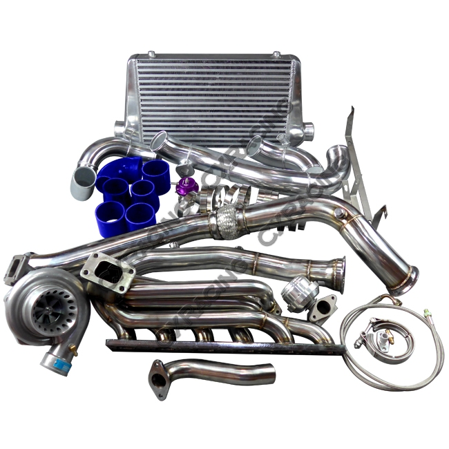 Gt35 Turbo Manifold Downpipe Intercooler Kit For Bmw E46 M52 Engine