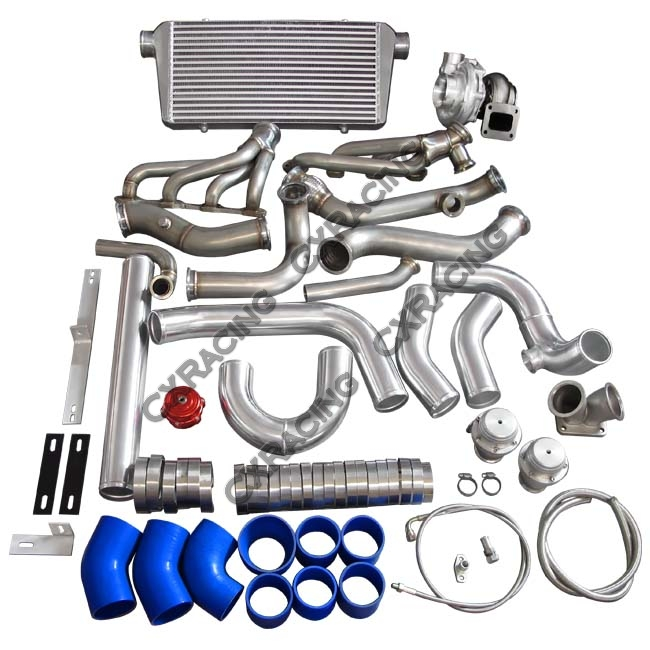 Bmw 316ti Compact Turbo Kit: GT35 Turbo Manifold Downpipe Intercooler Kit For BMW E46