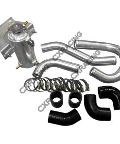 "Cxracing 1.5"" Aluminum Radiator Hard Pipe Kit For 2003-2012 Mazda RX-8 With RX-7 FD REW 13B Engine Swap"
