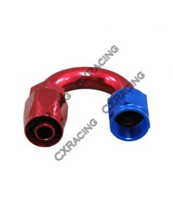 Cxracing AN 8 AN8 8AN 180 Degree U Swivel Oil/Fuel Hose End Aluminum Oil Fitting