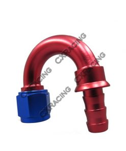 Cxracing AN8 -8AN 8AN 180 Degree Push On Loc Lock Socketless Fitting Hose End Adaptor