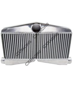 Cxracing 27.5x16x3.5 Twin Turbo Bar & Plate 2in 1out Intercooler For Mustang