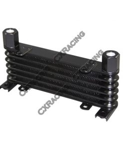"Cxracing Aluminum Oil Cooler 6 Rows, NPT 3/8"" Fitting Hi Performance"