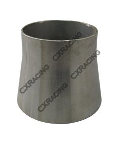 """Cxracing 3"""" to 2.5"""" 304 Stainless Steel Reducer Jointer Pipe Exhaust Catback Header"""