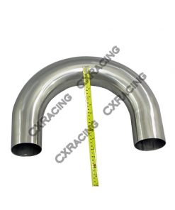 "Cxracing 3.5"" 180 Degree U 304 Stainless Mandrel Bend Pipe Tubing Tube"