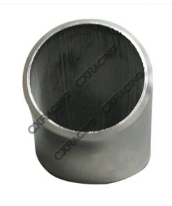 """Cxracing 1.65"""" O.D. Extruded 304 Stainless Steel Elbow 45 Degree Pipe , 3mm (11 Gauge) Thick"""