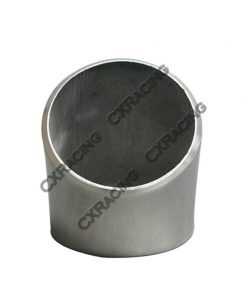 """Cxracing 1.75"""" O.D. Extruded 304 Stainless Steel Elbow 45 Degree Pipe , 3mm (11 Gauge) Thick"""