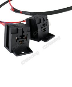 Cxracing 2x 30A 12V DC Relay Wire Harness 3ft Long for ECU Lights