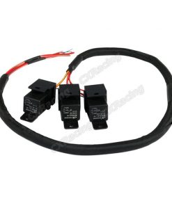 Cxracing 3x 30A 12V DC Relay Wire Harness 3ft Long for ECU Fan Lights