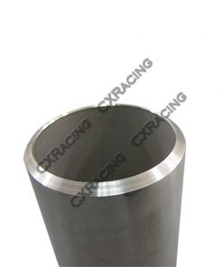 """Cxracing 1.9"""" O.D. Extruded 304 Stainless Steel Straight Pipe, 3"""" Long, Polished Finishing"""