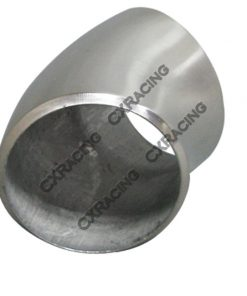 """Cxracing 2.36"""" O.D. Extruded 304 Stainless Steel Elbow 45 Degree Pipe , 3mm (11 Gauge) Thick"""