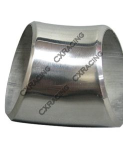 """Cxracing 2.5"""" O.D. Extruded 304 Stainless Steel Elbow 45 Degree Pipe , 3mm (11 Gauge) Thick"""