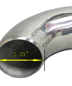 """Cxracing 2.25"""" O.D. Extruded 304 Stainless Steel Elbow 90 Degree Pipe , 3mm (11 Gauge) Thick"""