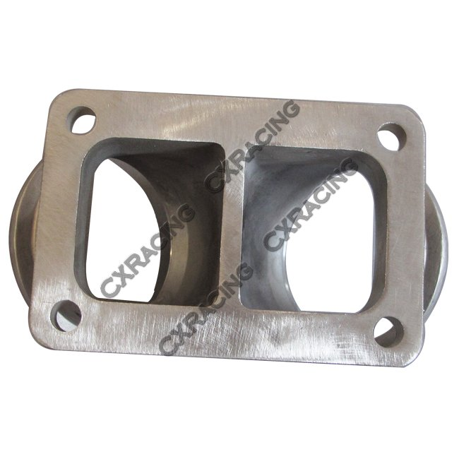 """Cxracing 3"""" Vband Inlet To T6 Dual Turbo Elbow Twin Scroll Divided Adapter Flange"""