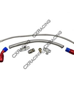Cxracing Turbo Oil Line Feed Drain Return Kit For Mazda RX7 RX-7 SA FB 13B AN10