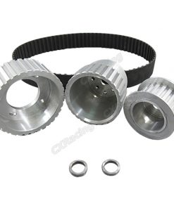 Cxracing Gilmer Drive Pulleys For 12A/13B/20B, Fits 17mm Alternator Center Hole