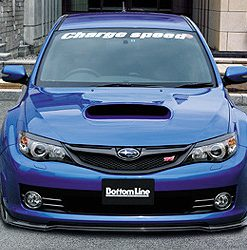 08-10 WRX STi GR-B Bottom Line T2 Front Lip Carbon
