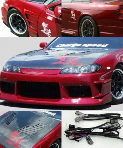 Nissan S14 to S15 Front Conv. Vented Carbon Hood