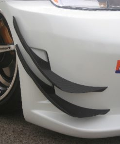 350Z Carbon Upper and Lower Canards For CS Bumper