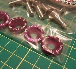 D1SPEC - Purple 8x JDM Engine Bay Bolts Fender Washers dc2 200sx EP3 S14 S15 S13