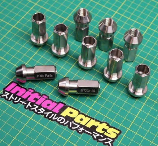 20 x M12 X 1.25 G5 Real Titanium wheel nuts lug For Nissan Lightweight Pure