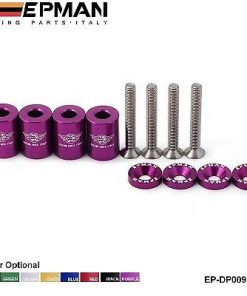 "EPMAN Purple - 1"" billet hood SPACERS raisers drift track race car JDM MX5 200sx"